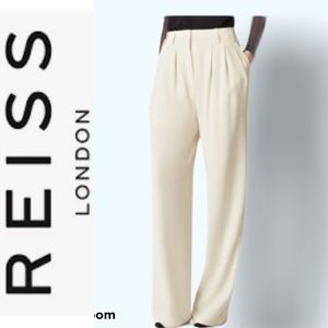 NWT Reiss Harperie Pleat Front Trousers